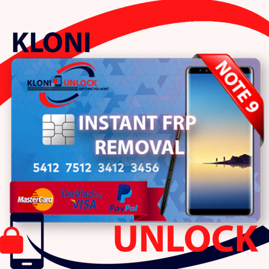 INSTANT Remote Google Account Removal/Reset FRP NOTE  9 SAMSUNG