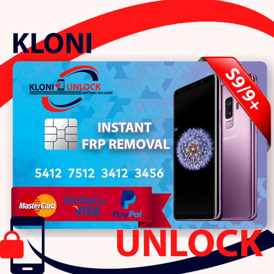 INSTANT Google Account Removal/Reset SAMSUNG S9/S9 Plus NOTE 9